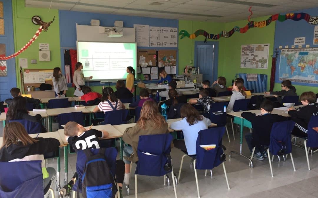 sauvons la planete - sensibiliser sur les transports à l'école